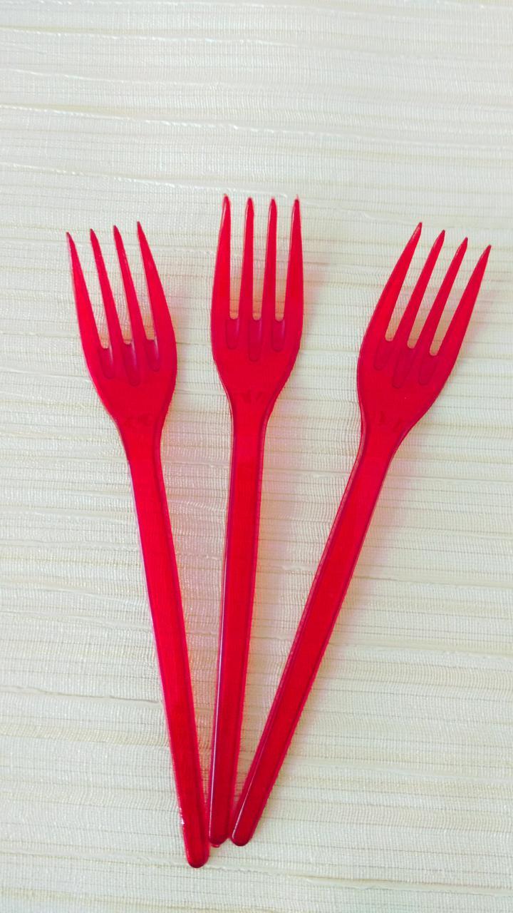 Вилки  из стеклопластика красные 10 шт
