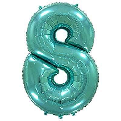 "Надувной шар Цифра 8, 40"" (102 см) фольга Металлик Тиффани, Flexmetal"