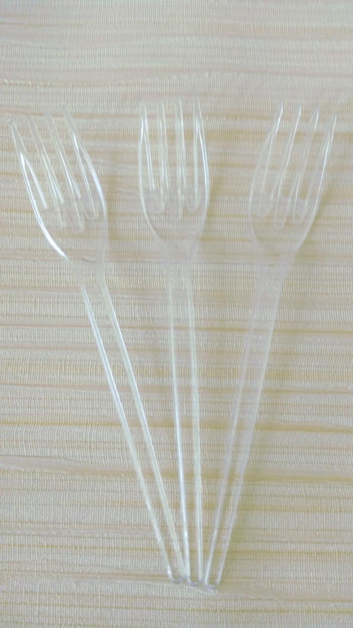 Вилки из стеклопластика прозрачные 10 шт
