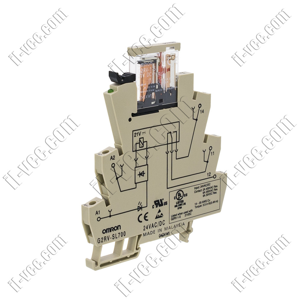 Модуль реле G2RV-SL700 24VAC/DC,  6A/250VAC, 6A/30VDC