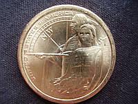 """1 доллар 2014 года """"Гостеприимство коренных американцев . Коренные Американцы."""""""
