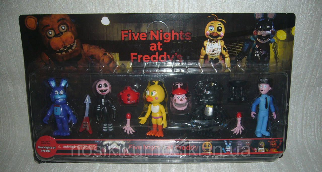 Аниматроники Пять ночей с Фредди Five nights at Freddys 6 фигурок набор 5