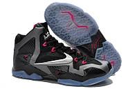 Кроссовки Nike Lebron 11 Grey Black Pink, фото 1