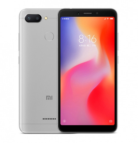 Смартфон Xiaomi Redmi 6 4GB/64GB (Grey)