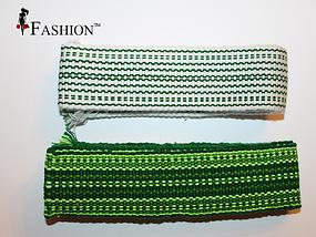 Ассортимент зелёных поясов для вышитых сорочек, фото 3