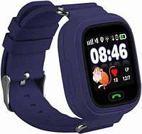 Детские умные GPS часы smart baby watch Q90 (Q90s/Q100). Оригинал. Гарантия синий