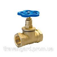 Вентиль латунный запорный (клапан латунный) 15Б3р Ду15...50 Ру10