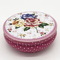 Набор коробок круглой формы цветы матовый