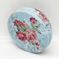 Набор коробок круглой формы цветы глянец