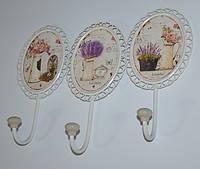 Декоративные крючки-вешалки настенные (металл), фото 1