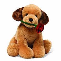 """Мягкая игрушка собачка """"С днем святого Валентина"""""""