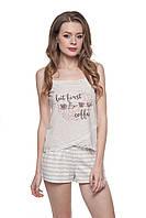 Хлопковая пижама с шортами 152/001