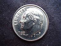 10 центов  США,  «Дайм с изображением Рузвельта»., фото 1