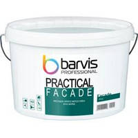 Атмосферостійка фарба фасадна Barvis Professional Facade Practical водовідштовхувальна Біла 10 літрів