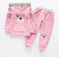 Костюм для дівчинки рожевий ведмедик.Арт.01092