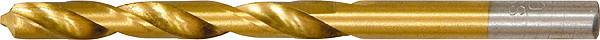 Свердло по металу, 8 мм, HSS, нітридтітанове покриття, циліндричний хвостовик// MTX