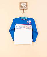 Стильный голубой с белым джемпер для мальчиков. 100% хлопок. Wanex