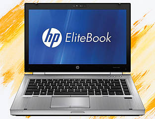 "Ноутбук HP Elitebook 8460p 14.1"" HD LED (Core i5 2.5 ГГц, 4 ГБ ОЗУ DDR3, 250 ГБ HDD, DVD-RW, WEB, Windows 7)"