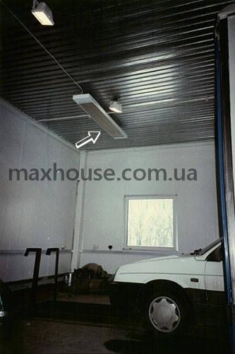 Использование  инфракрасных систем отопления для автомоек, ангаров и производств 2