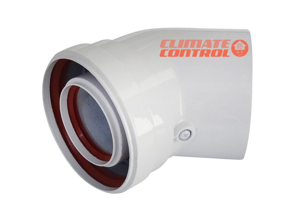 Соединительное колено 45° Ф 60/100 (папа-мама-папа-мама) для газового котла