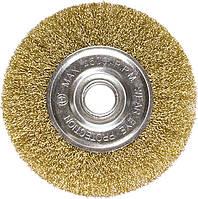 Щітка для КШМ, 200 мм, посадка 22,2 мм, плоска металева //MTX