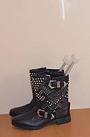 Кожаные  осенние  сапожки    б/у из Германии