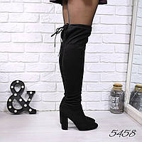 Сапоги женские ботфорты Stuart черные