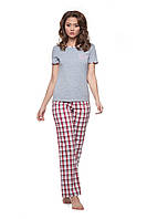 Пижама с брюками в клетку