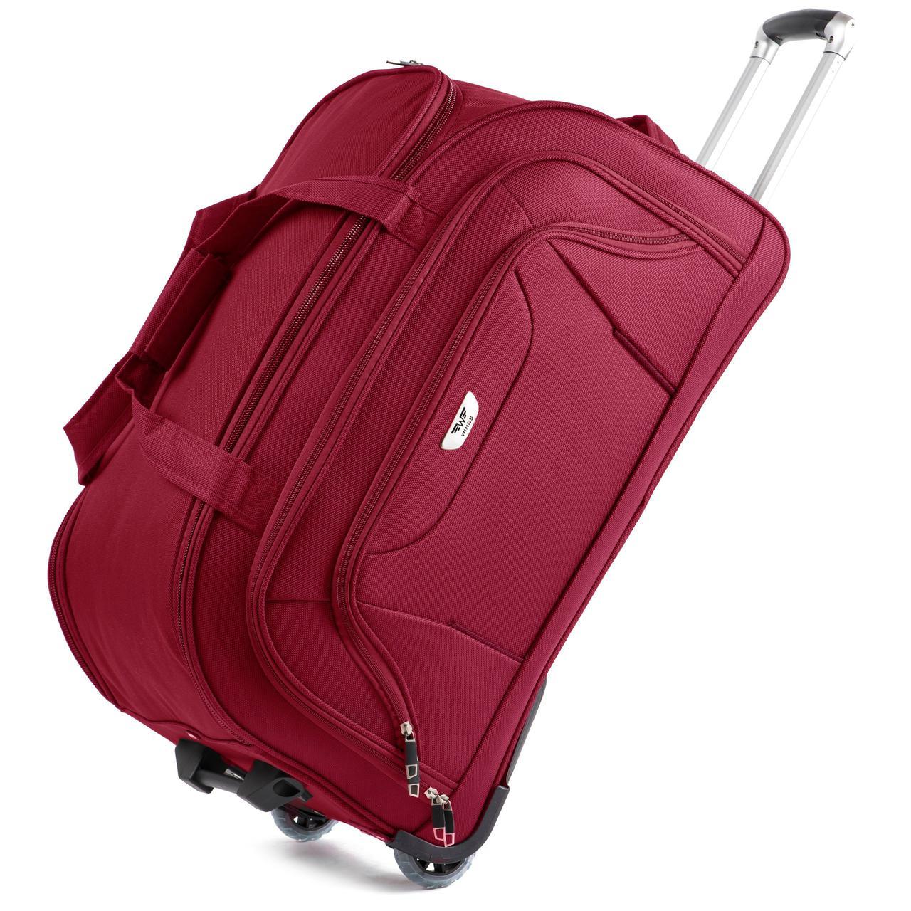 Дорожная сумка на колесах Wings 1056 Большая (L) Красная