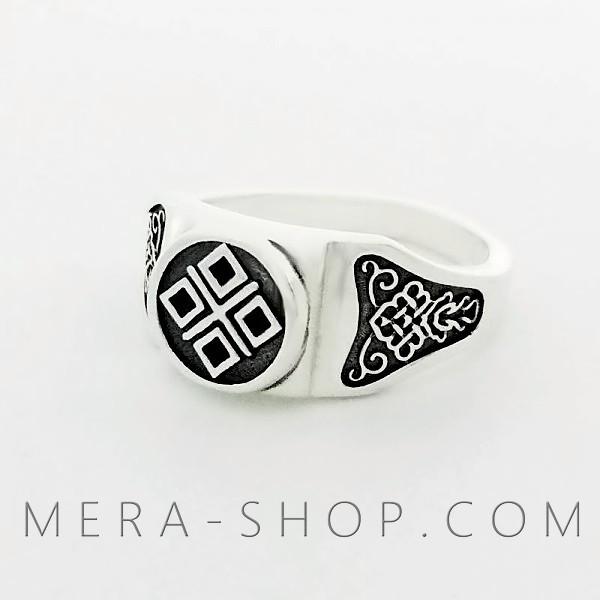 Макошь серебрянй перстень славянский оберег