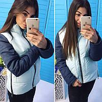 """Короткая женская куртка на молнии """"ALDO"""" с воротником стойкой (2 цвета)"""