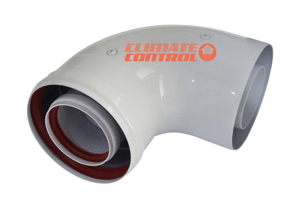 Соединительное колено 90° Ф 60/100 (папа-мама) для конденсационного котла