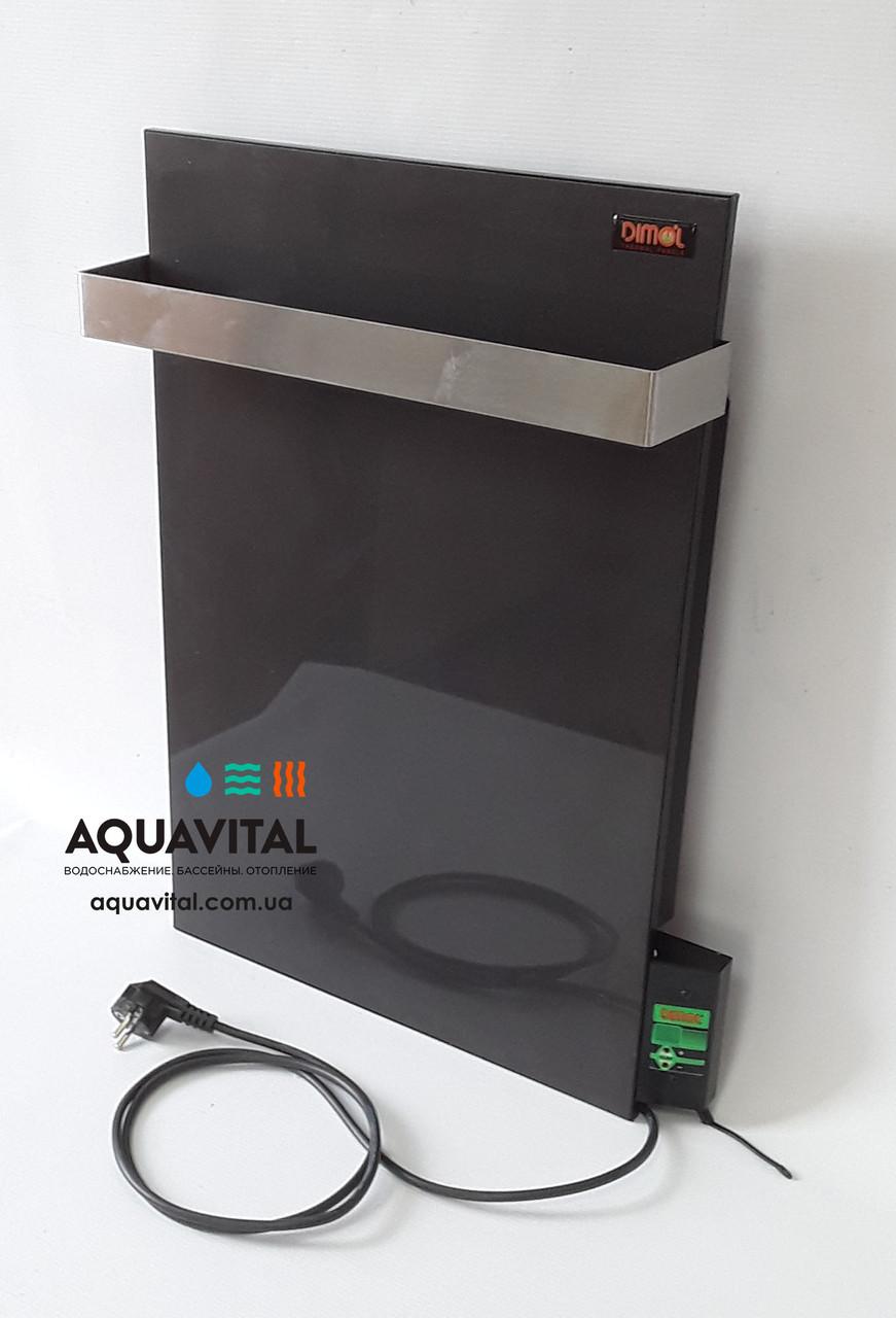 Полотенцесушитель керамічний Dimol Mini 07 TR з терморегулятором (графітовий)