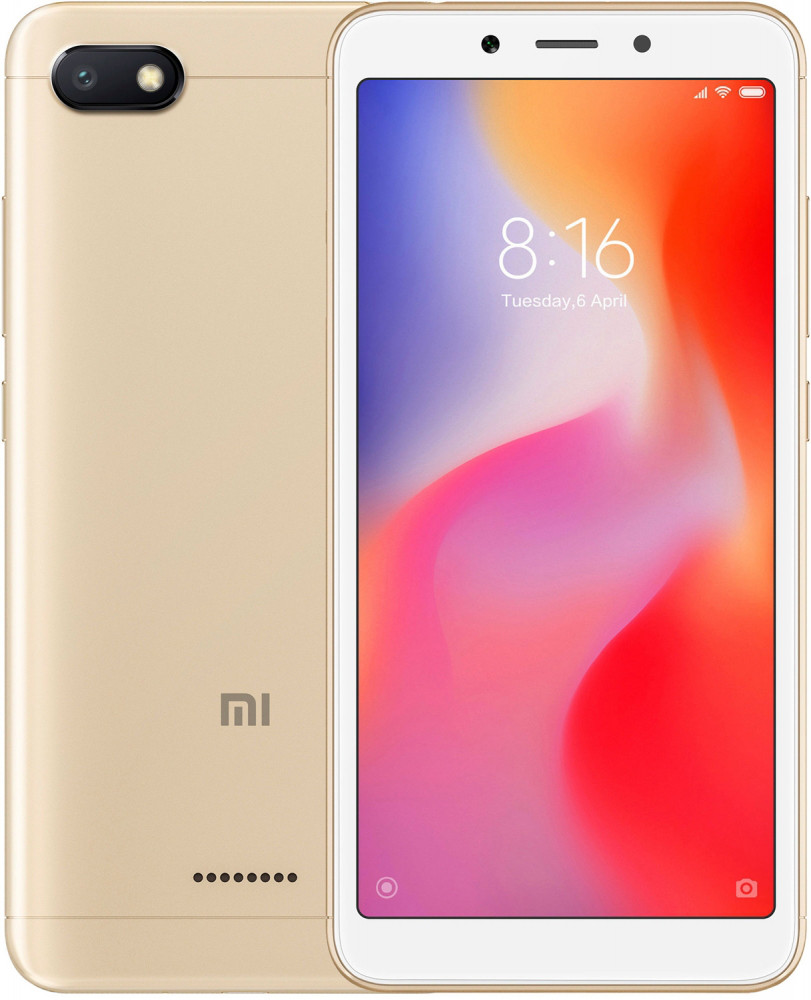 Смартфон Xiaomi Redmi 6A 3/32GB (Gold)