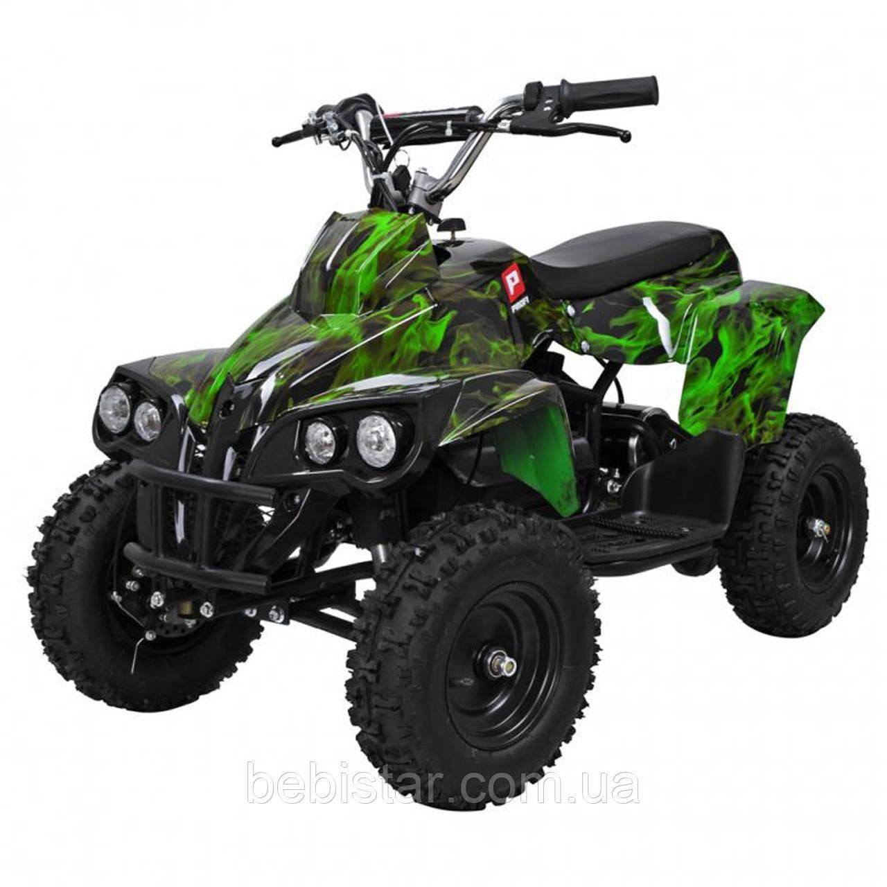 Квадроцикл PROFI HB-EATV 800C-NEW5 мотор 800W графити зеленый, аккумулятор 3*12v/12ah, скорость 30км/ч