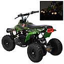 Квадроцикл PROFI HB-EATV 800C-NEW5 мотор 800W графити зеленый, аккумулятор 3*12v/12ah, скорость 30км/ч, фото 2
