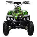 Квадроцикл PROFI HB-EATV 800C-NEW5 мотор 800W графити зеленый, аккумулятор 3*12v/12ah, скорость 30км/ч, фото 3
