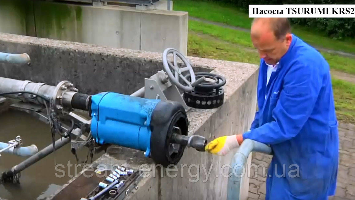 Грязевой насос Tsurumi KRS2 с агитатором до 195м3/час