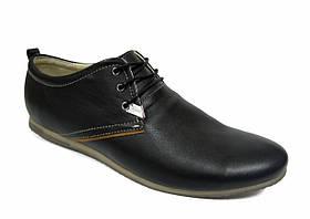 Мужские туфли Affinity черные, натуральная кожа