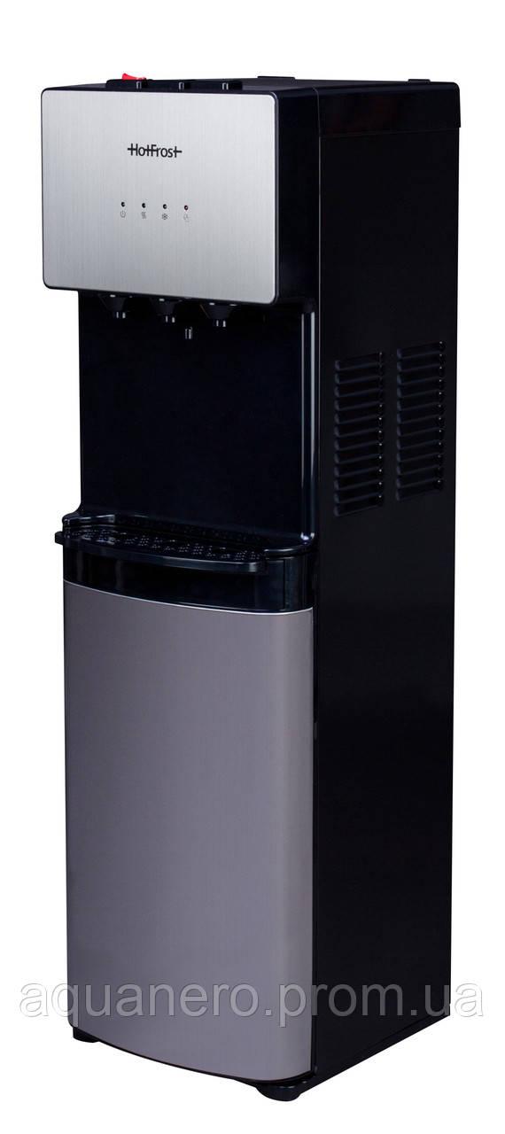 Новинка лета 2018 - напольный кулер с компрессорным охлаждением с холодильником HotFrost V400BS