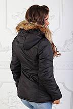 """Теплая женская куртка на овчине """"Napapijri"""" с капюшоном, фото 3"""