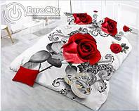 Комплект постельного белья из полированного сатина. Двуспальный Евро комплект. ( cotton / satin )