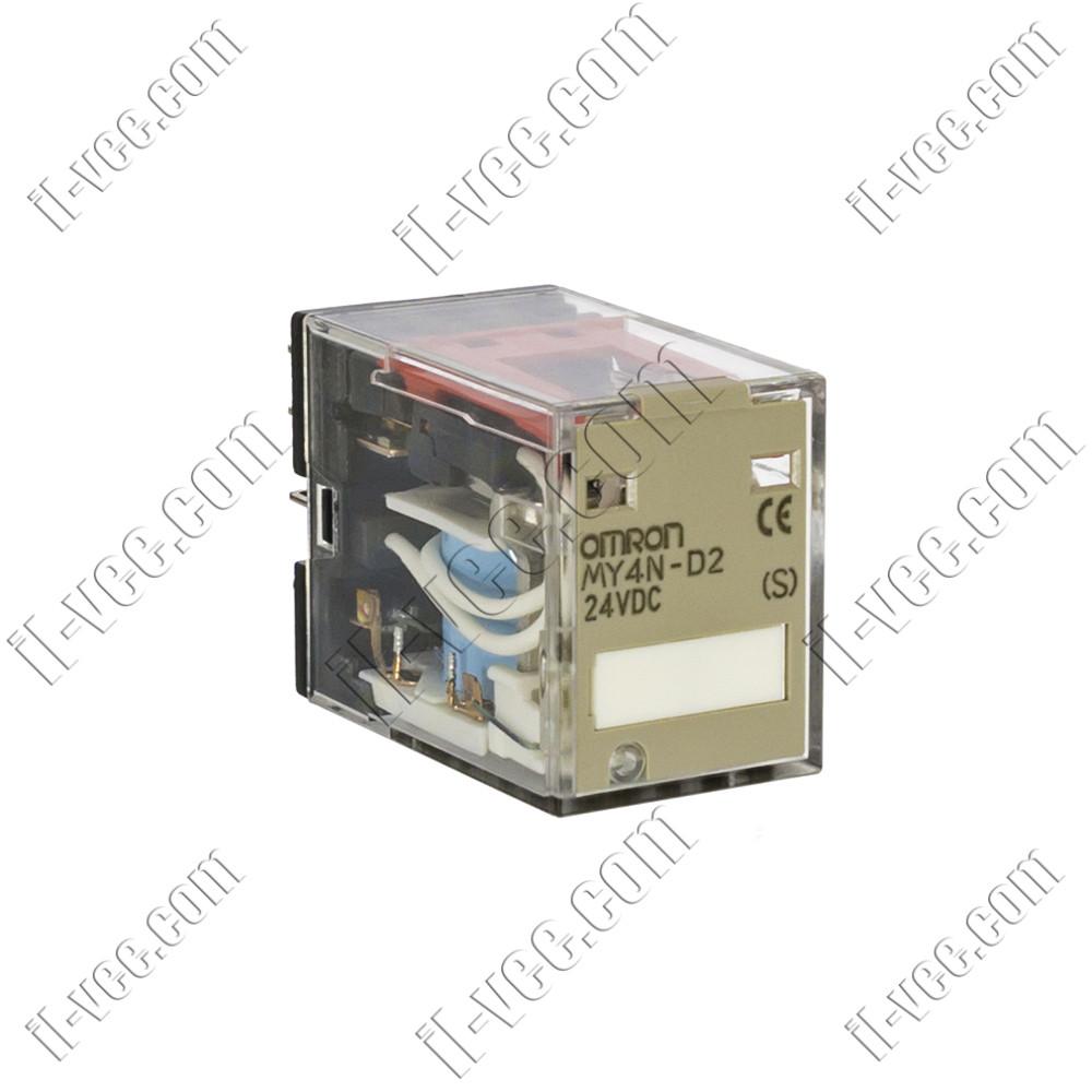 Реле Omron MY4N-D2 24VDC, 5A/220VAC, 5A/24VDC