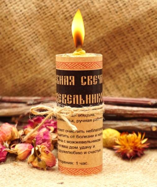 волшебная свеча с можжевельником