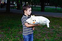 Плюшевая подушка Зайка-трансформер 44х49 см молочный