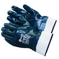 Перчатки рабочие  синяя твердый манжет