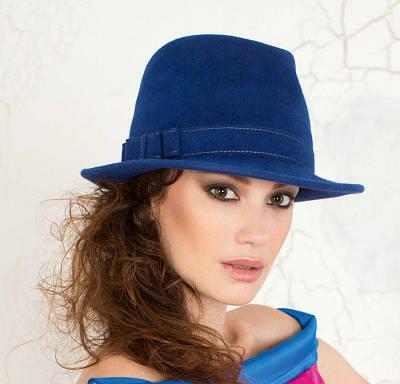 282-2 Женская фетровая шляпа Хелен Лайн
