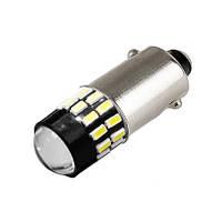 Светодиодная лампа цоколь T8 (T4W BA9s) 30-SMD 3014, драйвер, линза, 12В Код:305568651