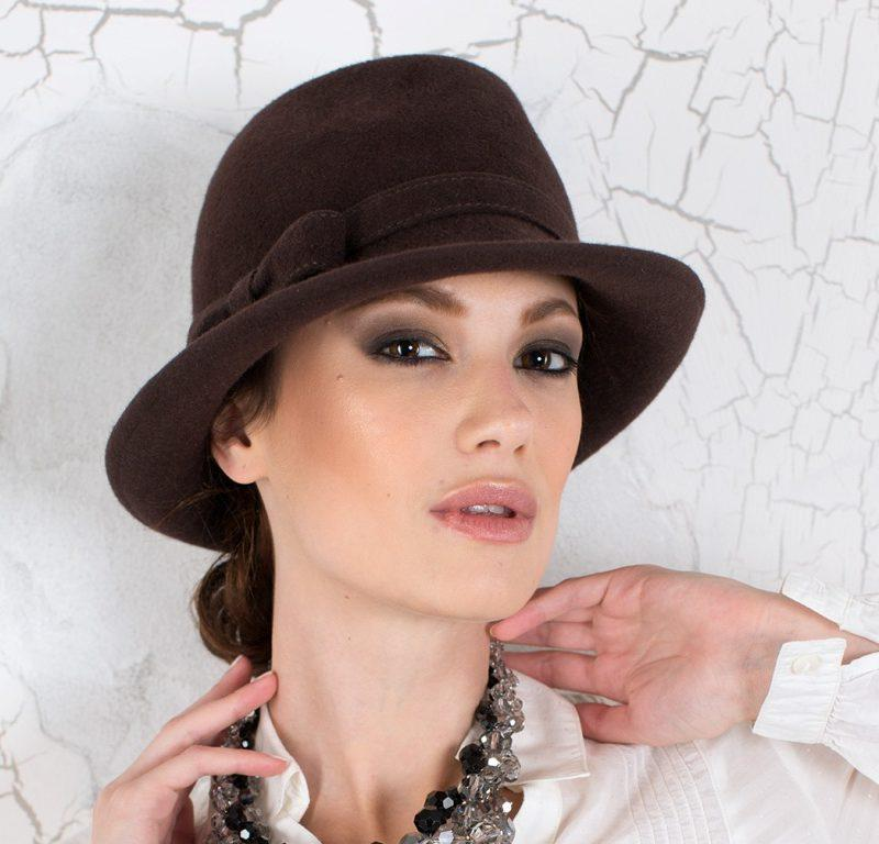 284-1 Женская фетровая шляпа Хелен Лайн