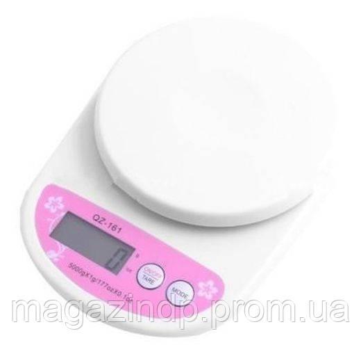 Кухонные весы Qz-161 до 5кг с подсветкой Код:475253172